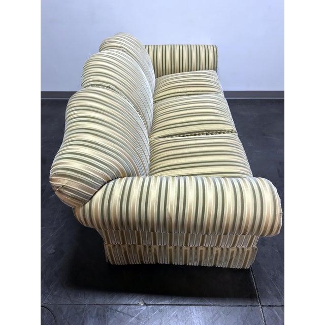 Baker Furniture Company Baker Roll Arm Sofa in Cut Velvet For Sale - Image 4 of 13