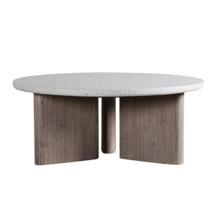 Modern Terrazzo Round Coffee Table For Sale