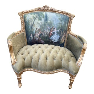 French Louis XVI Style Corbeille Loveseat For Sale