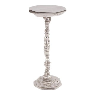 Rock Cut Cast Aluminum Martini Table from Kenneth Ludwig Chicago For Sale