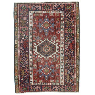 RugsinDallas Antique Hand-Knotted Wool Persian Karajeh - 3′ × 4′2″ For Sale