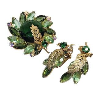 D & E Juliana Green Set With Palm Leaf For Sale