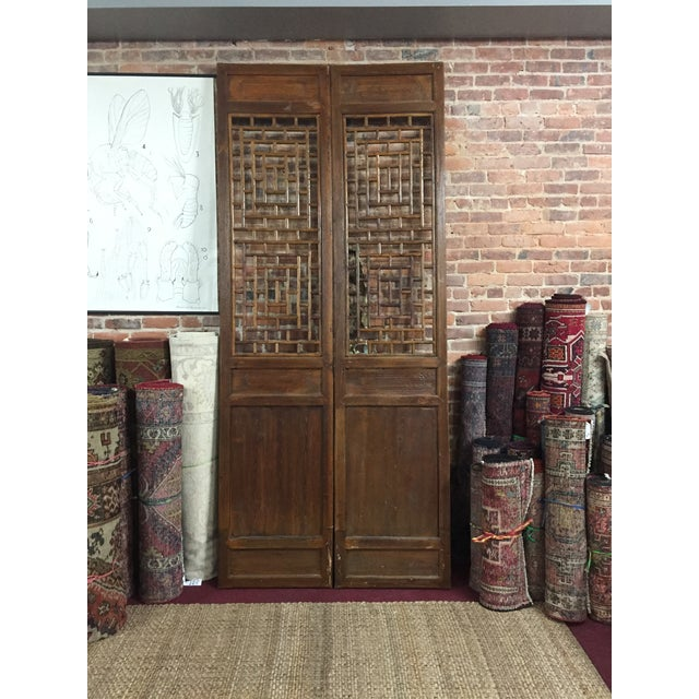 Mid 19th Century Chinese Antique Screens- a Pair For Sale - Image 5 of 5