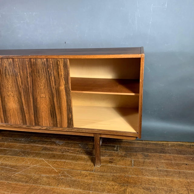 "Brown Erik Wørts ""Ladoga"" Rosewood Credenza, Sweden 1960s For Sale - Image 8 of 11"