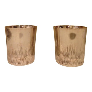 Pair of Plated Silver Shot Beakers. Sheffield England
