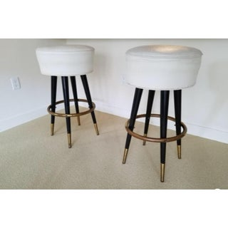 Mid Century Modern Pair of Bar Stools Preview