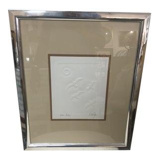 "1970s ""Seagulls"" Vanguard Studios Paper Art, Framed For Sale"