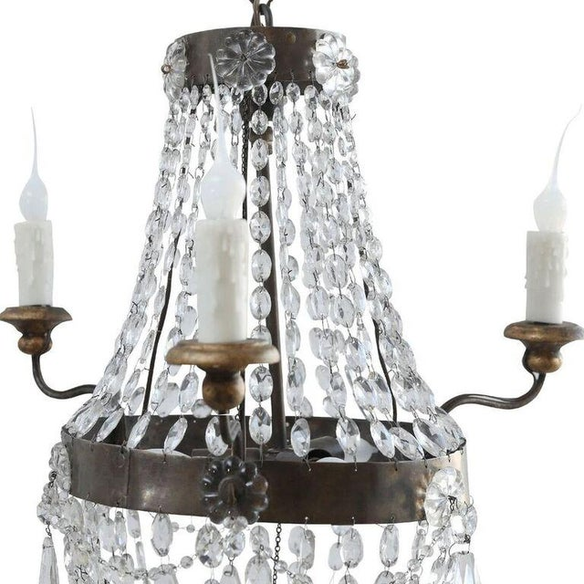 Petite Italian Crystal Chandelier For Sale - Image 4 of 10