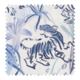 Pepper Frida Blue Fabric - 1 yard For Sale