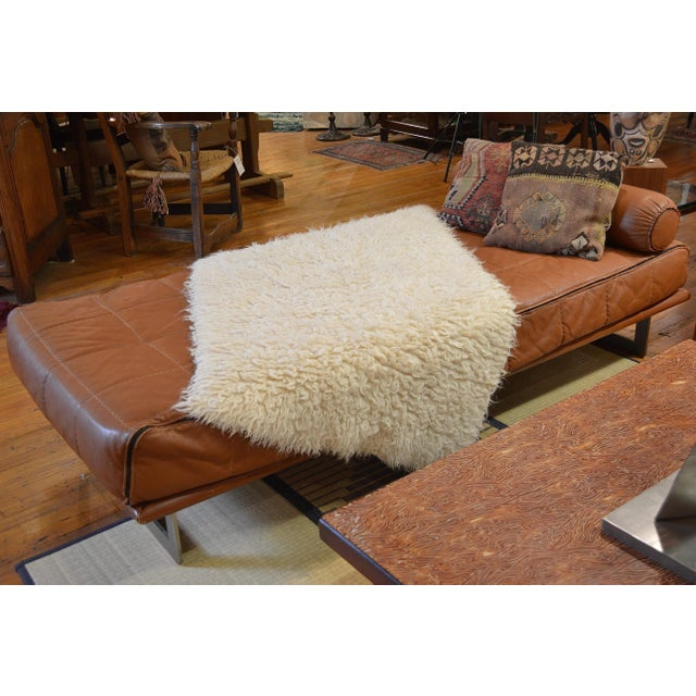Mid Century Italian Modernist Faux Leather Daybed For Sale In Greenville, SC - Image 6 of 13