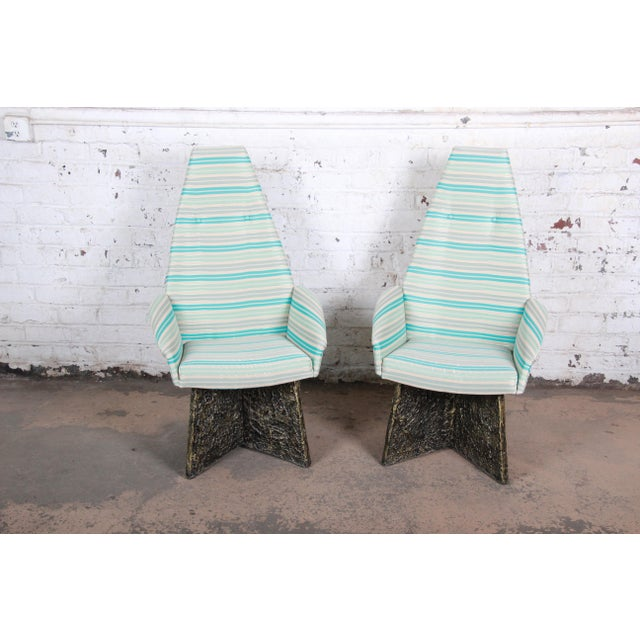 White Adrian Pearsall Mid-Century Brutalist High Back Lounge Chairs - a Pair For Sale - Image 8 of 10