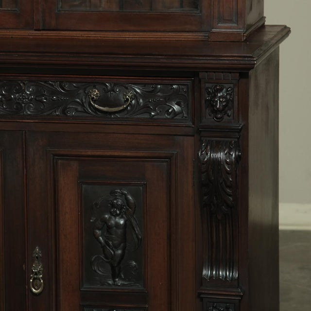 19th Century Renaissance Revival Bookcase With Angels~ Putti For Sale - Image 11 of 13