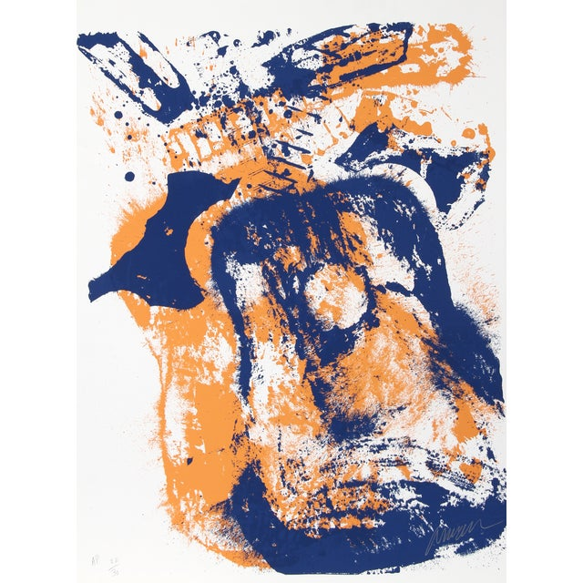 "Arman ""Glowing Guitar"" Silkscreen Print - Image 1 of 2"