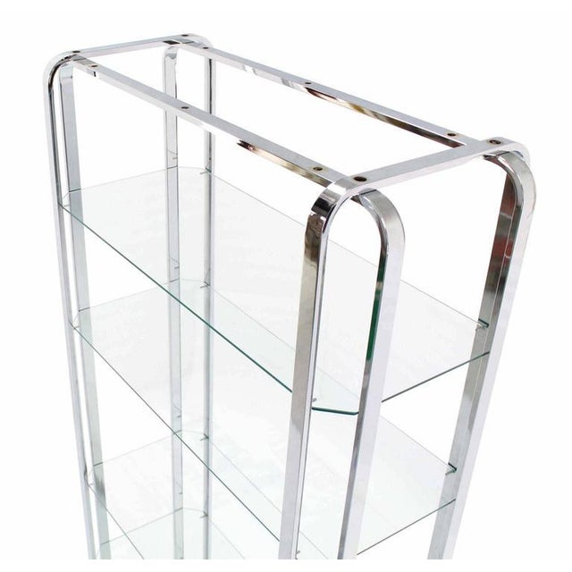 Mid-Century Modern Mid-Century Modern Chrome and Glass Étagère For Sale - Image 3 of 7