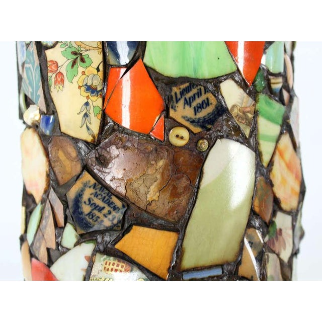 Mosaic Heavy Pottery Cane or Umbrella Stand - Image 10 of 10