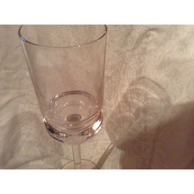 Traditional Tall Clear Glass Vase For Sale - Image 3 of 3