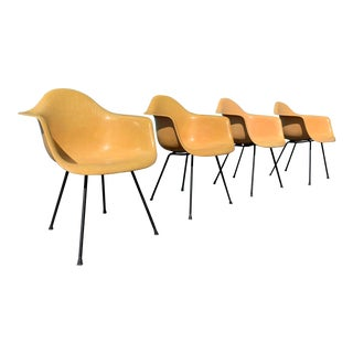 4 1950s Vintage Herman Miller Armshell Chairs For Sale