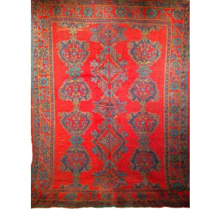 Early 1900s Turkish Oushak Rug For Sale