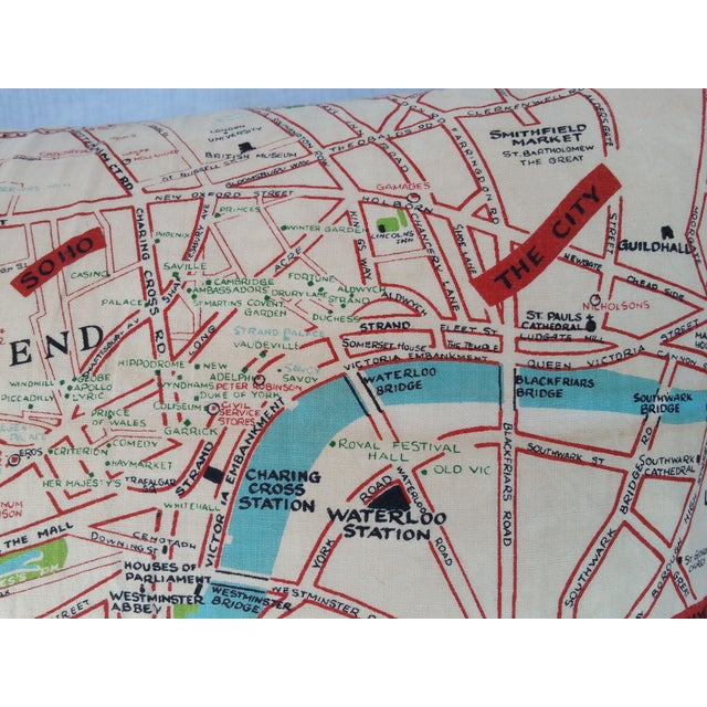 Old London Map Pillow - Image 3 of 6