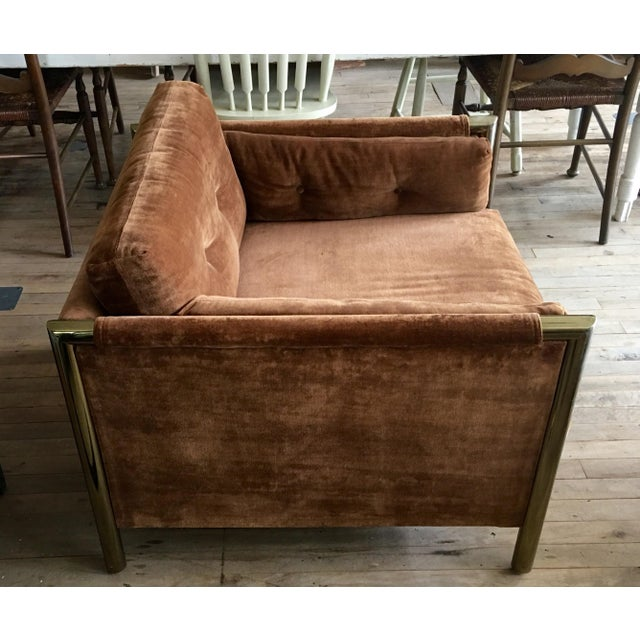 Milo Baughman-Style Brown Club Chairs - A Pair - Image 4 of 10