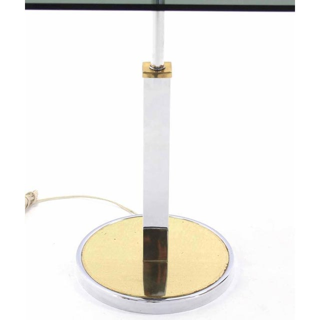 Mid-Century Modern Smoked Glass Side Table Floor Lamp For Sale - Image 4 of 5