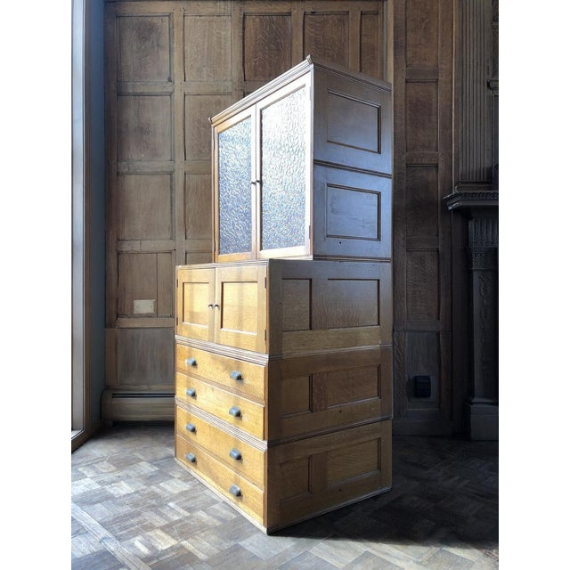 American Antique Yawman and Erbe Oak Stacking File Cabinet For Sale - Image 3 of 11
