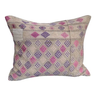 Antique Tribal Wedding Quilt Pillow For Sale