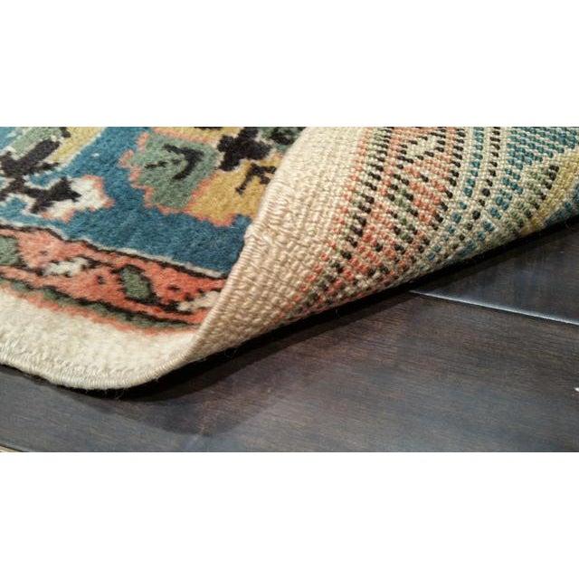Antique Turkish Wool Oushak Handmade Knotted Rug - 7x10 - Image 4 of 4
