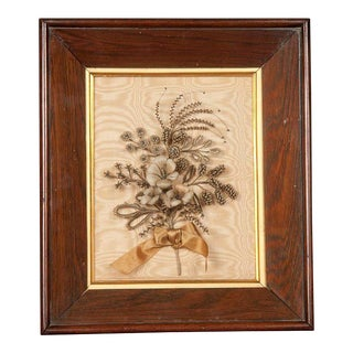 Victorian Flower Arrangement, Framed For Sale
