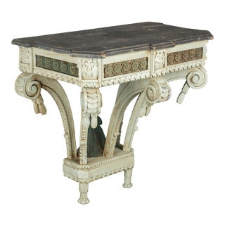 19th Century Louis XVI Style Painted Console For Sale