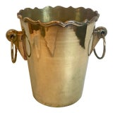 Image of Solid Brass Champagne Bucket For Sale