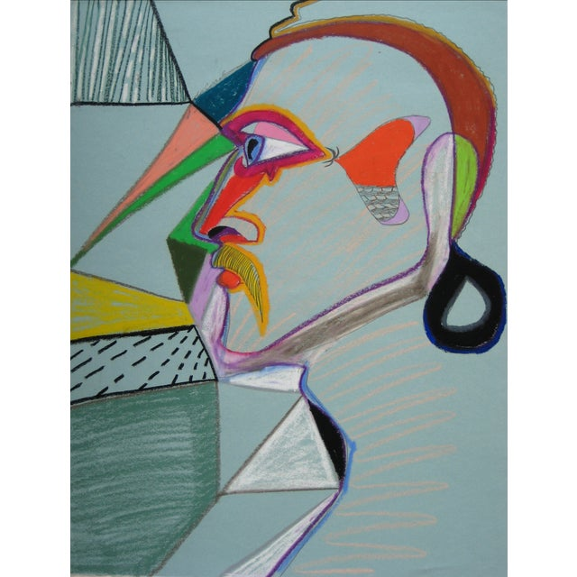 20th Century Surrealist Profile Drawing For Sale