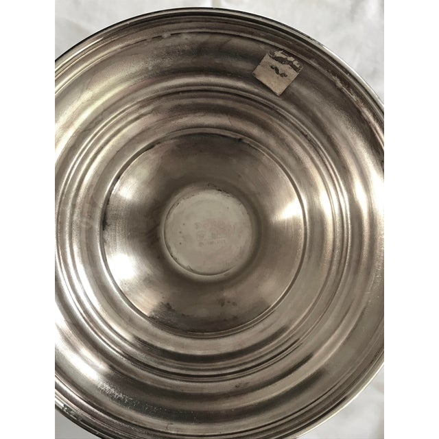 Vintage Silver Plate Champagne or Wine Cooler For Sale - Image 4 of 7
