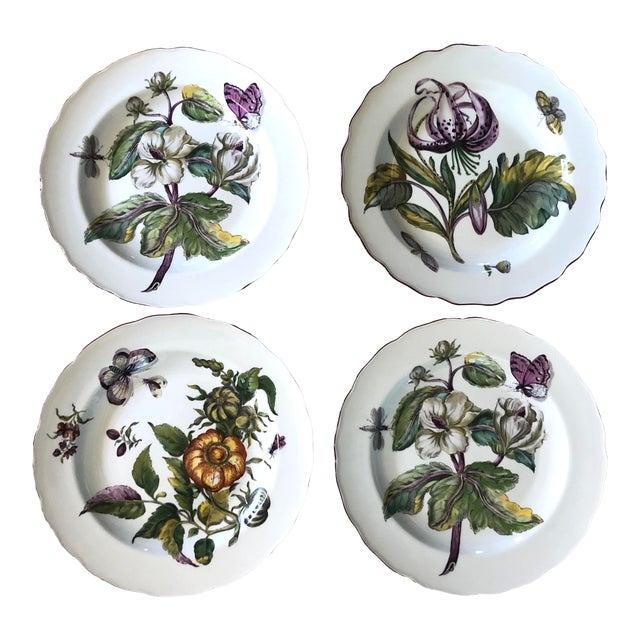 Mottahedeh Chelsea Botanical Vista Alegre Dinner Plates - Set of 4 For Sale