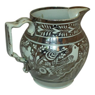 19th Century Silver Luster Pearlware Pitcher For Sale
