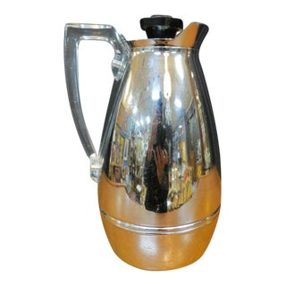 Vintage Mid-Century Modern Chrome Thermos Pitcher, C1960. For Sale