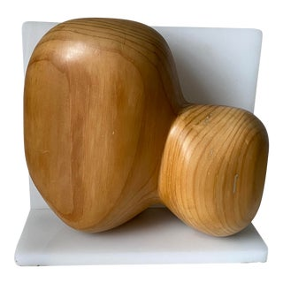Mid-Century Modern Wood Sculpture For Sale