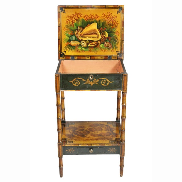 Early 19th Century Regency Stencilled and Painted Side Table For Sale - Image 5 of 13