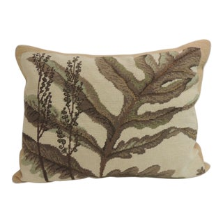 Vintage Large Fern Leaf Tapestry Decorative Lumbar Pillow