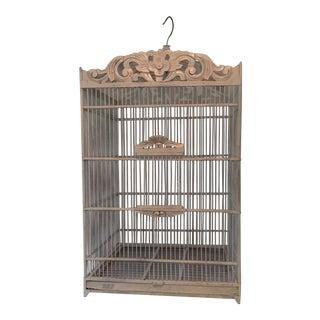 Carved Wood Birdcage For Sale
