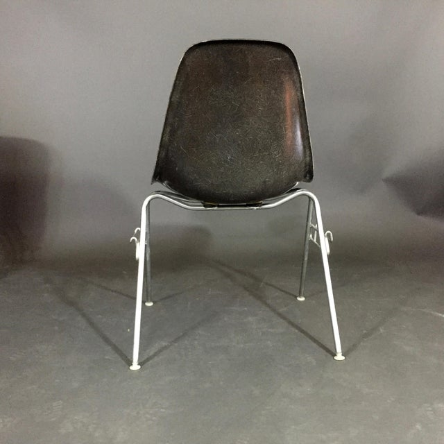 Six (6) Charles and Ray Eames Fiberglass Shell Chairs, Stacking Base For Sale In New York - Image 6 of 10