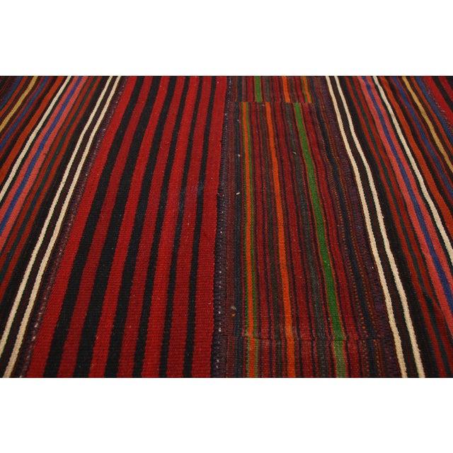 Late 20th Century Vintage Turkish Jajim Kilim Flat-Weave Rug - 9′9″ × 12′5″ For Sale - Image 4 of 6