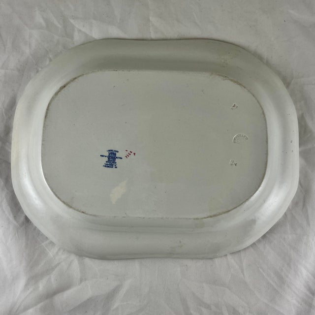 Blue 1920s Copeland Spode George III Pattern Platter for Harrods of London For Sale - Image 8 of 13