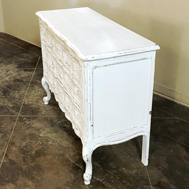 Antique Country French Provincial Painted Commode For Sale In Dallas - Image 6 of 12