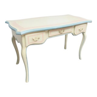 French Style Painted Writing Desk For Sale