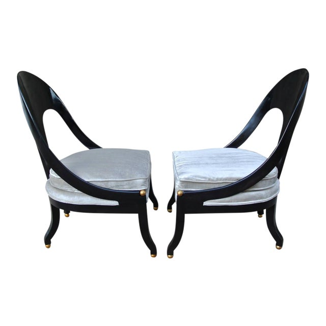 Pr. Neoclassic Chairs by Michael Taylor for Baker For Sale