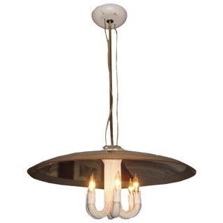 Gio Ponti for Fontana Arte Six Light Chandelier Italy Circa 1935 For Sale