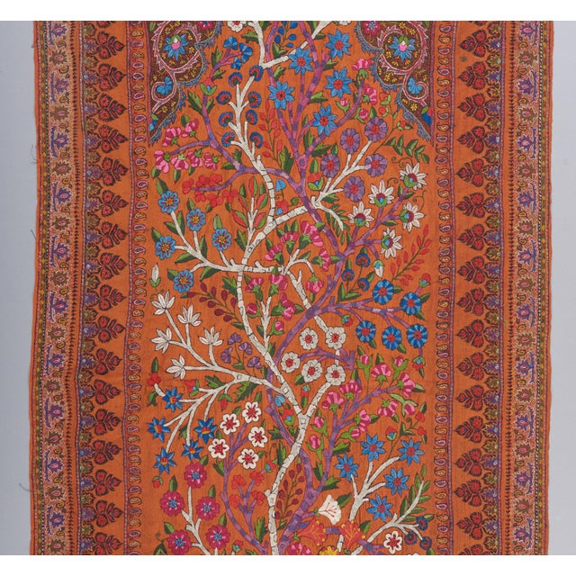"""Asian 19th Century Kerman """"Termeh"""" Embroidery Textile Art For Sale - Image 3 of 4"""