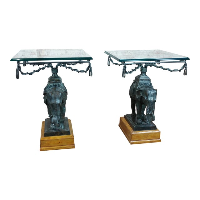 Cool Maitland Smith Bronze Elephant Side Tables A Pair Ocoug Best Dining Table And Chair Ideas Images Ocougorg