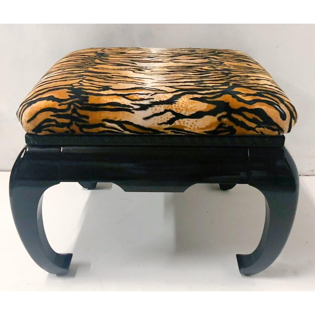 Asian Springer Style Asian Modern Ottomans, Pair For Sale - Image 3 of 7